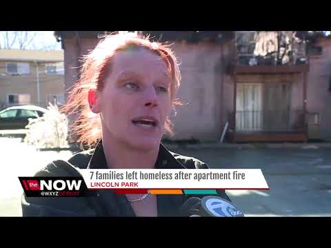 Seven families left homeless after metro Detroit apartment fire