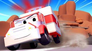 Tom der Abschleppwagen -  Rumalbern am Abgrund - Lastwagen Zeichentrickfilme für Kinder 🚓 🚒