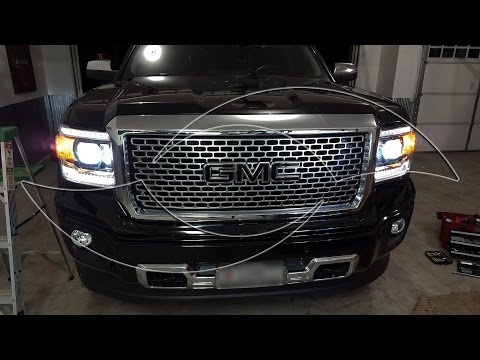 DIY: 2014+ GMC Sierra HID Headlight Kit Install - Enlight