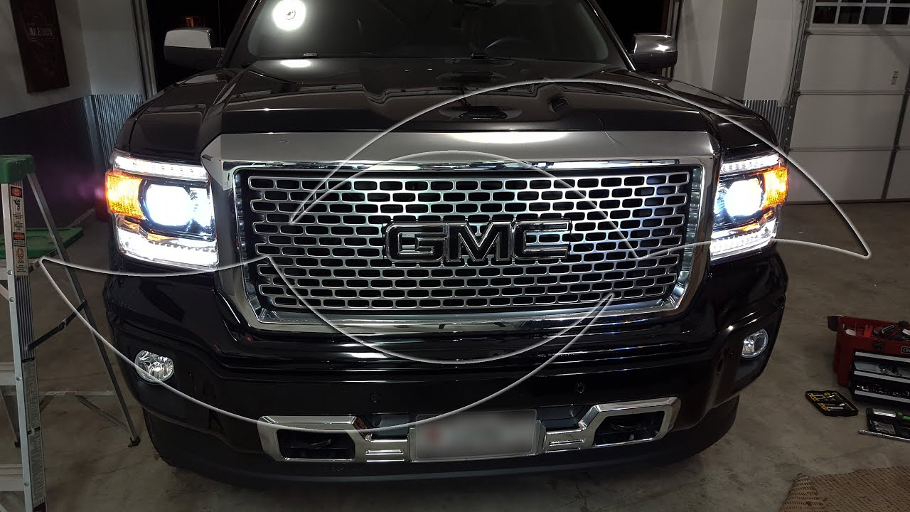 Diy 2014 Gmc Sierra Hid Headlight Kit Install Enlight