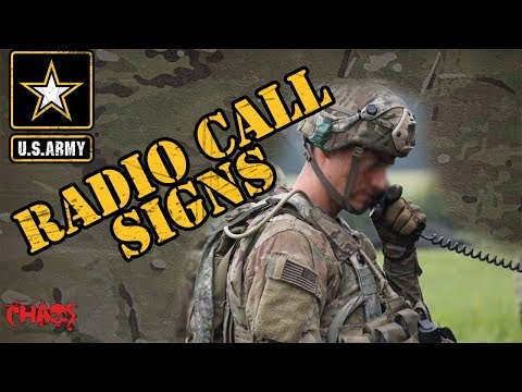 How Army Soldiers Get Their Radio Call Sign