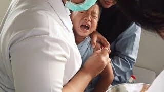 Kai Berani Imunisasi tapi Kok Nangis? | Kai Getting Immunization Shots