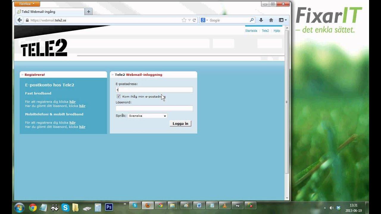 Tele2 Webmailingång