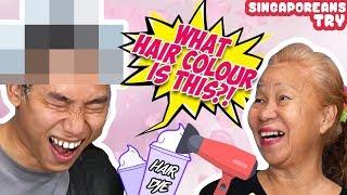 Singaporeans (Grandmas) Try: Dyeing Grandchild's Hair