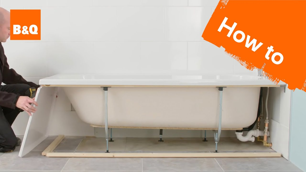 How to install a standard acrylic bath  YouTube