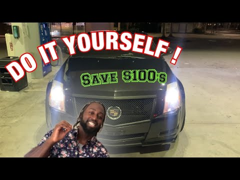 How To Install Custom LED Headlights : Cadillac CTS Coupe *BRIGHTEST LIGHTS*