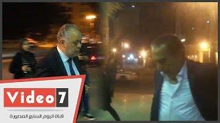 محمد العدل وأشرف زكى والصريطى بعزاء والد المخرج محمد بكير
