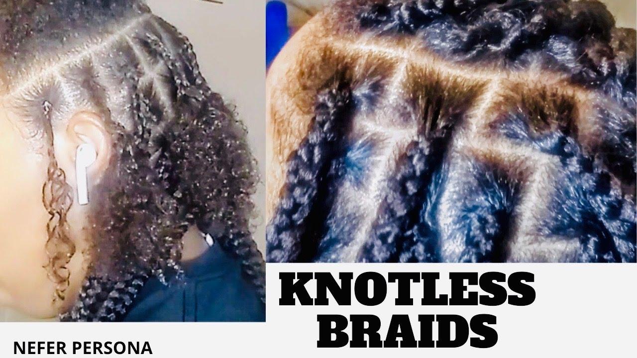 Crochet Knotless Braids No Feed In No Rubber Bands|| Beginner Friendly Knotless Braids