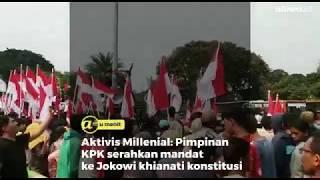 Aktivis Millenial: Pimpinan KPK serahkan mandat ke Jokowi khianati konstitusi