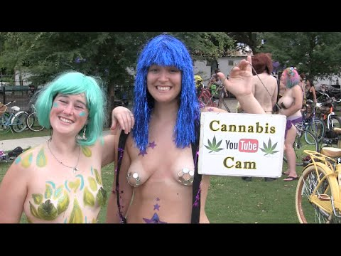 World Naked Bike Ride New Orleans 2016 Recorded by CANNABIS CAM, Part 4