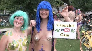 World Naked Bike Ride New Orleans 2016 Recorded by CANNABIS CAM, Part 4 thumbnail