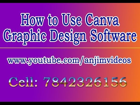 Canva Graphic Designing Software In Telugu | how to create graphics with canva