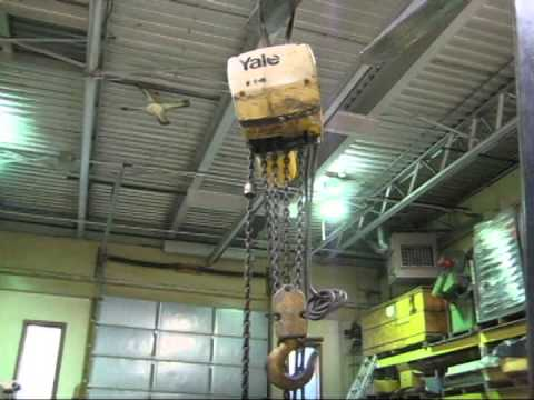 Eaton Yale 3 Ton Electric Hoist Model KEL 3-10H1453 - YouTube on