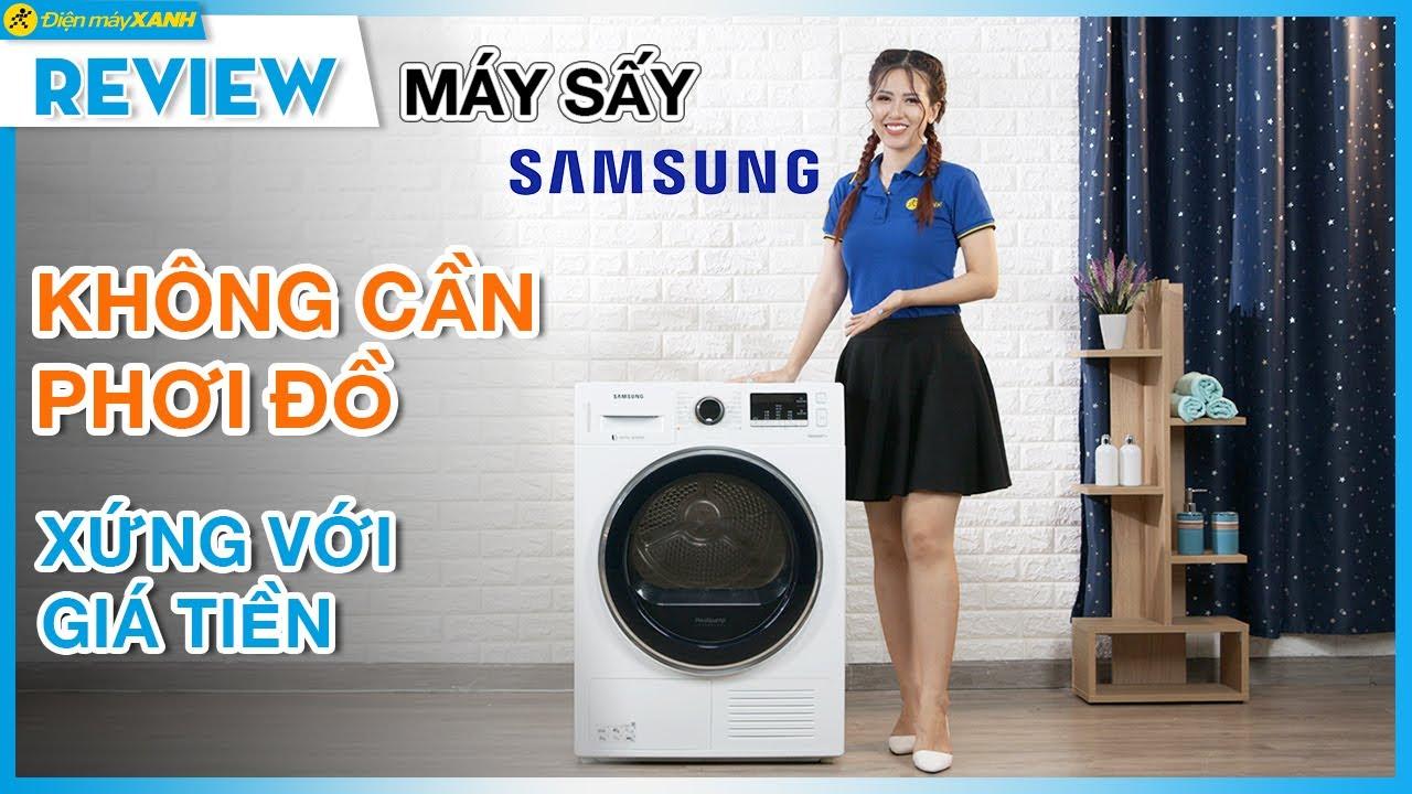 Máy sấy Samsung: không cần phơi đồ, có thể sấy giày (DV90M5200QW) • Điện máy XANH