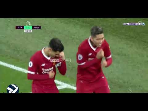 Roberto Firmino Best Goals Liverpool VS Swansea City 5-0 Epl 27-12-2017