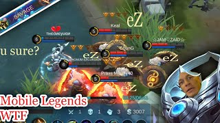 Mobile Legends WTF| Funny 300IQ Luo yi Trolling and Mirror Mode