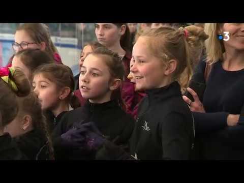 Caen: les stars françaises du patinage à la rencontre de leur public