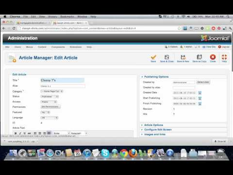 Unlock An Article In Joomla 2.5