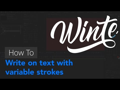 After Effects tutorial | Creating variable width strokes to write on text