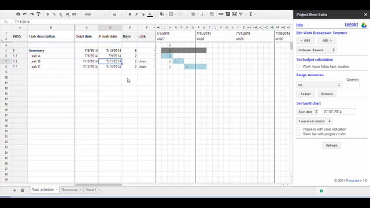 Project Management Using Google Sheets For Linking Tasks YouTube - Google sheets for project management