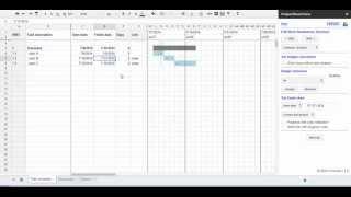 Project Management met behulp van Google spreadsheets voor het koppelen van taken