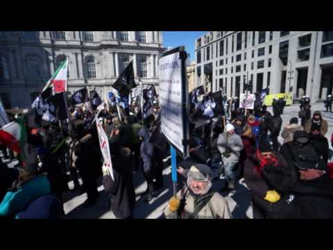 La Meute Protest Against M103 Outside Montreal City Hall Saturday March 4 2017 00004