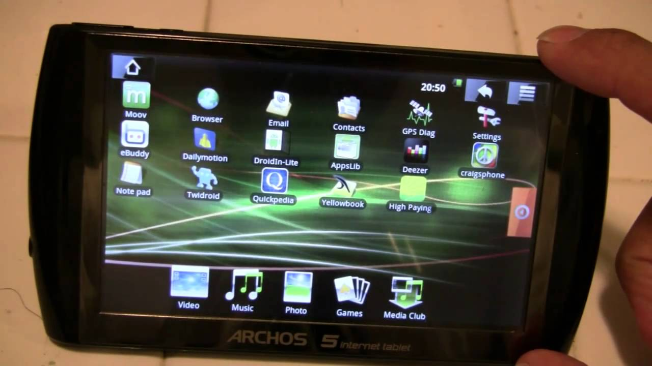 archos 5 internet tablet android bluetooth apple wireless keyboard rh youtube com Archos 5 Internet Tablet Touch Screen Archos 5 Internet Tablet Accessories