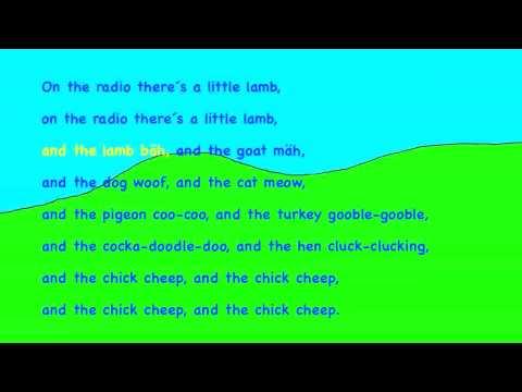 The little chick cheep KARAOKE HD Playback Instrumental Lyrics, Song