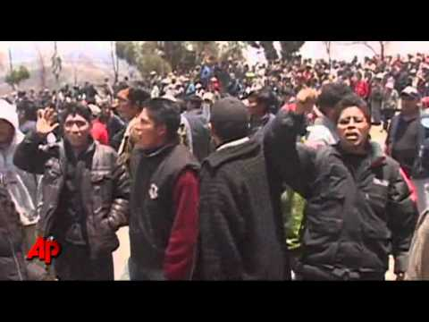 Raw Video: Bolivians Protest Fuel Price Increase