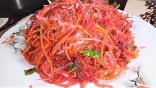Салат очень ПОЛЕЗНЫЙ из Свежих Овощей На Каждый День!