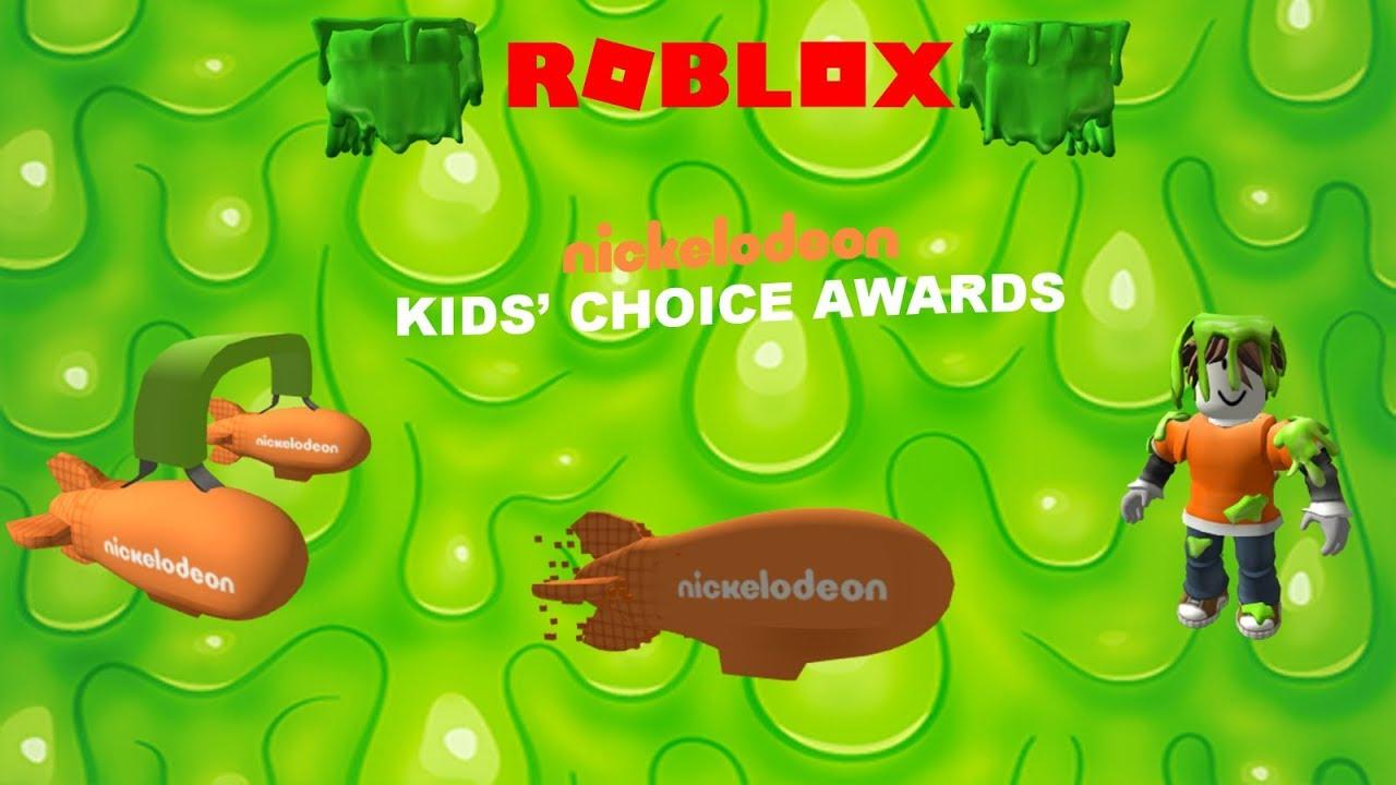 Roblox Nickelodeon Kids Choice Awards 2018 Prizes Youtube