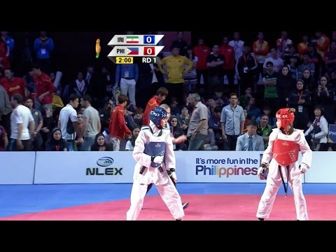 Female -57kg Semifinal: Iran vs. Philippines I 22nd Asian Taekwondo Championships