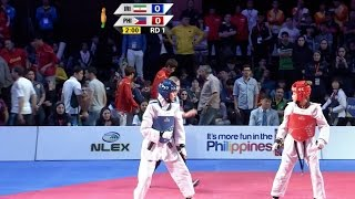 Female  57kg Semifinal  Ran Vs. Philippines   22nd Asian Taekwondo Championships