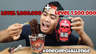 PAQUI ONE CHIP CHALLENGE MIXED WITH GHOST PEPPER NOODLE | 2.5 MILLION LEVEL OF SPICINESS