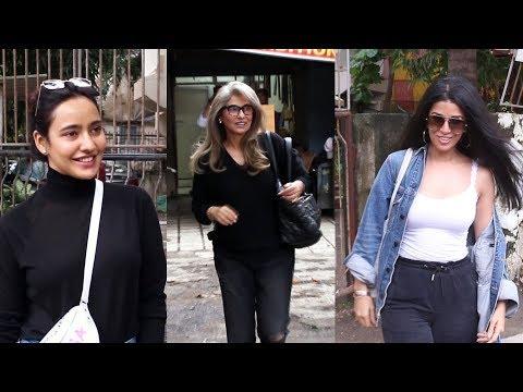 Neha Sharma, Nimrat Kaur And Dimple Kapadia Spotted At Kromakay Salon Juhu