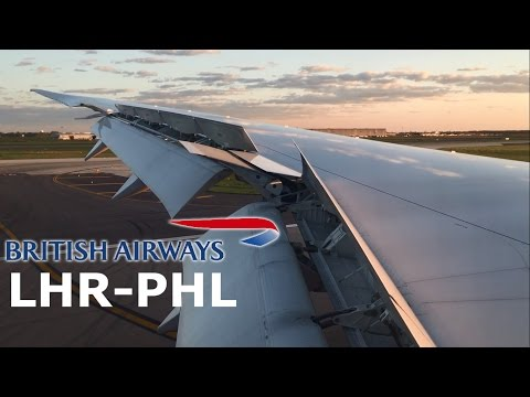 British Airways Boeing 787 Dreamliner Sunset Landing Philadelphia