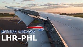 Video British Airways Boeing 787 Dreamliner Sunset Landing Philadelphia download MP3, 3GP, MP4, WEBM, AVI, FLV Maret 2018