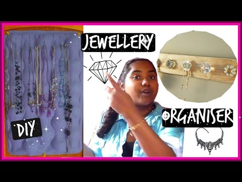 Diy jewellery organiser