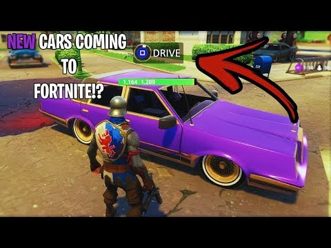 *NEW CARS IN FORTNITE: BATTLE ROYALE GAMEPLAY | ARE CARS COM