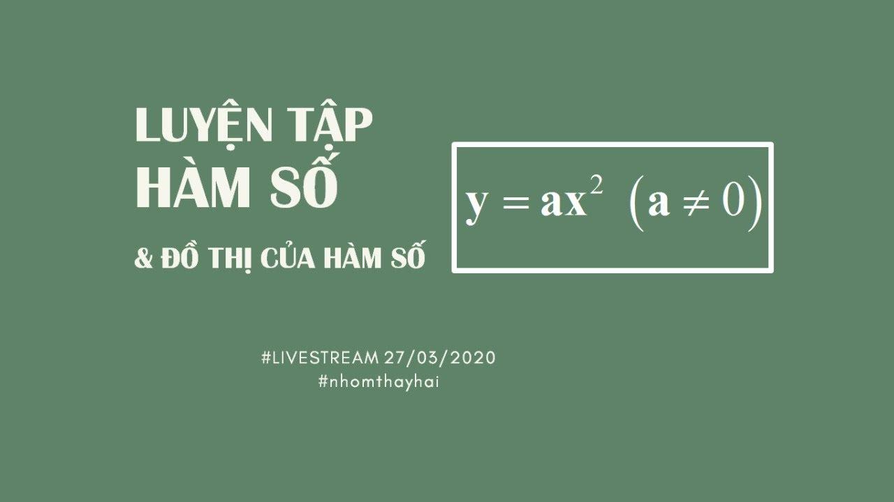Luyện tập về Hàm số y= ax^2 (a#0) và đồ thị hàm số y = ax^2 (a#0) – Toán 9   Thầy Đăng Hải