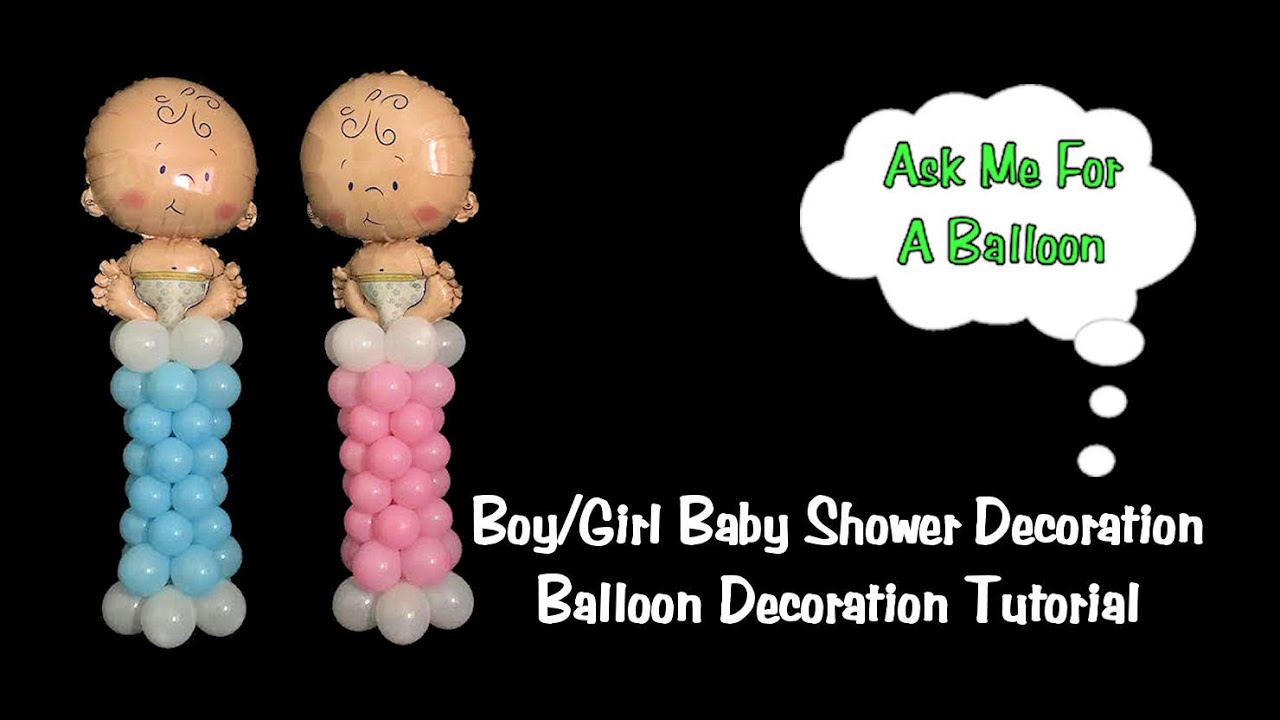 Baby Shower Mini Balloon Columns  Balloon Decoration Tutorial  YouTube