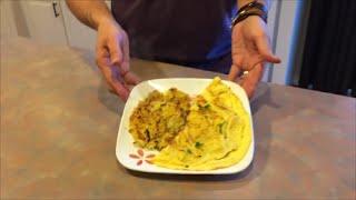 Mushroom Basil Omelet & Spaghetti Squash Hashbrowns