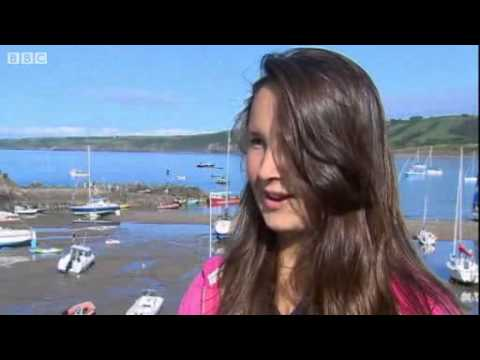 Footage of shark which closed New Quay beach