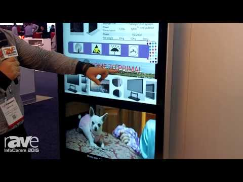 InfoComm 2015: Prima Features 55″ Vertical/Horizontal LCD Kiosk for Digital Signage