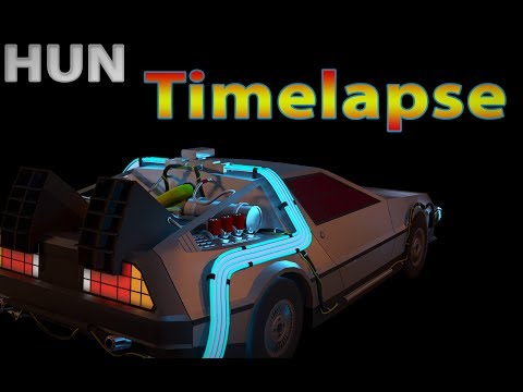low poly car modeling timelapse  (lowpoly  delorean ) magyar HUN 3D Tutorial
