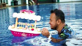 PAPA JUALAN ES KRIM 😍 Drama Gerobak Ice Cream nya Hilang... Hikk