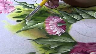 Pintura em tecido porcelanizada