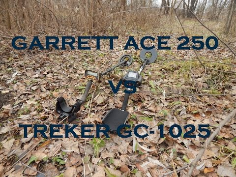 Treker GC-1025 против Garrett ACE 250. Глубина обнаружения и скорость восстановления.