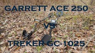 Treker GC 1025 против Garrett ACE 250 Глубина обнаружения и скорость восстановления