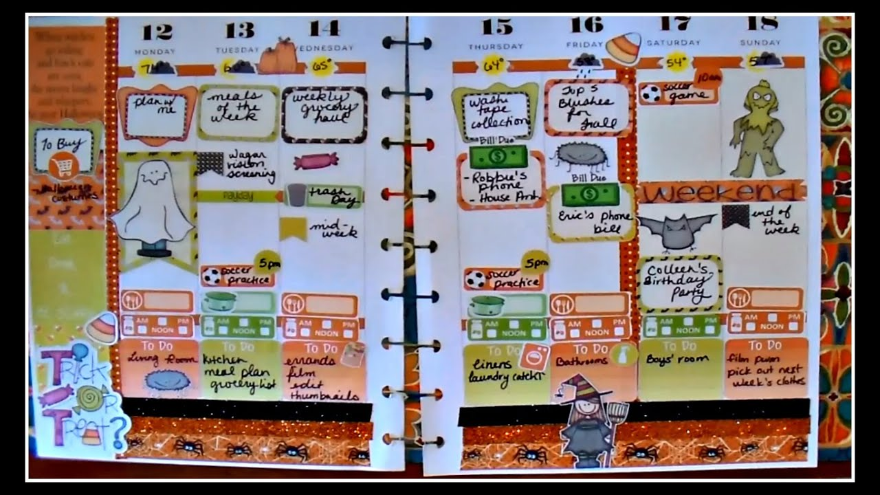 Plan With Me Happy Planner Halloween Theme Youtube